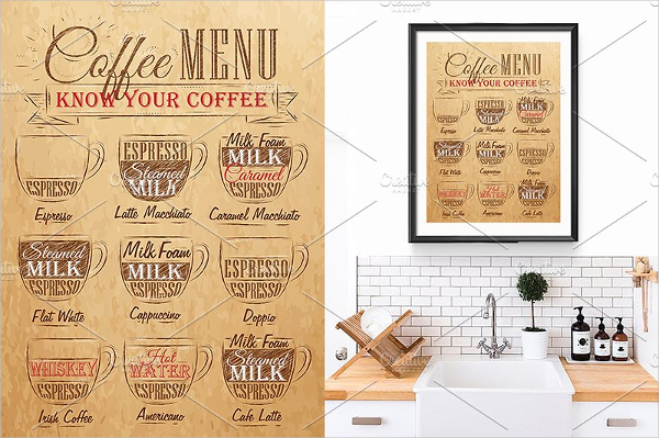 Hot Coffee Clean Menu