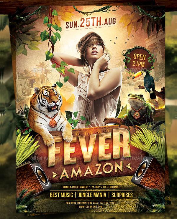 Jungle Fever Flyer Template