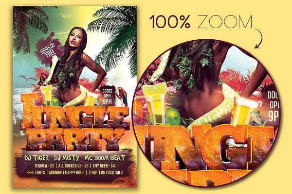 Jungle Hot Flyer Template