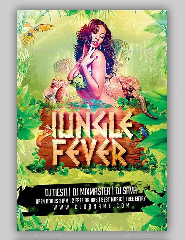 Jungle Party Dance Flyer Bundle