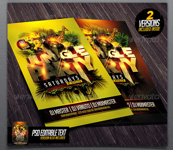 Jungle Party Flyer Templates