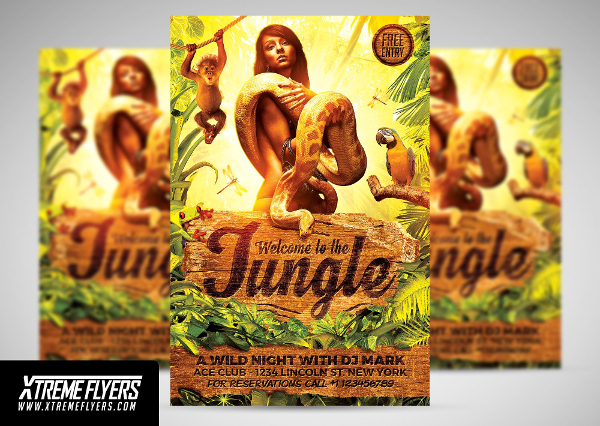 Jungle Spring Party Flyer