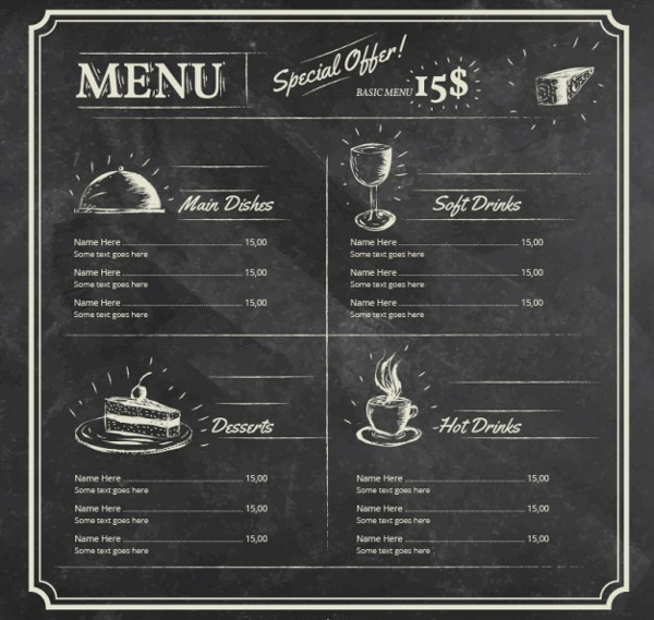 22 blackboard menu templates free premium psd png ai downloads