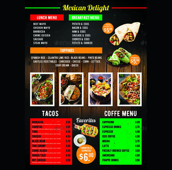 21 Food Truck Menu Templates Free Amp Premium Download