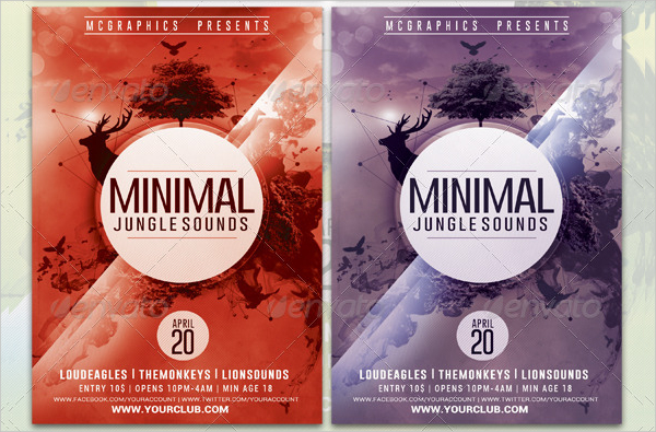 19 jungle flyer templates free premier download