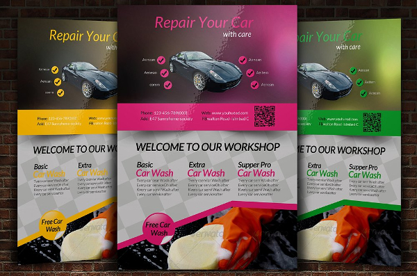 Car Repair Flyer Templates  Free  Premium Download