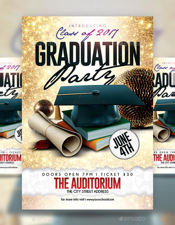 Modern Graduation Flyer Template