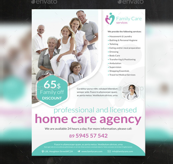 17  senior care flyer templates