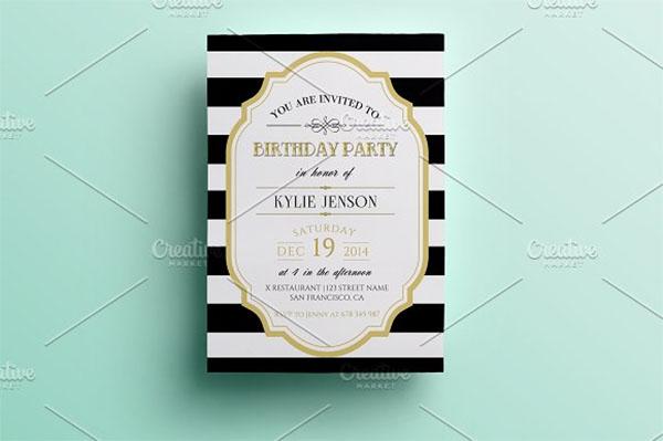 Printable Birthday Party invitation Design