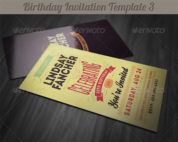 Retro Birthday Invitation Design