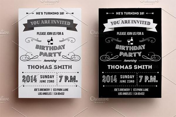 59 birthday invitation templates free premium psd vector downloads retro psd birthday invitation filmwisefo
