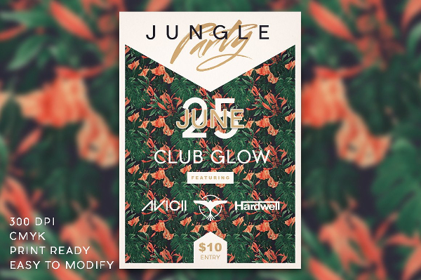 Simple Jungle Party Flyer