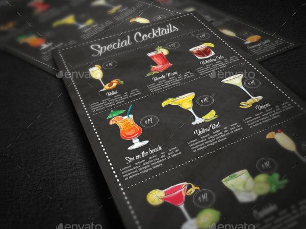 Special Cocktail Menu Template