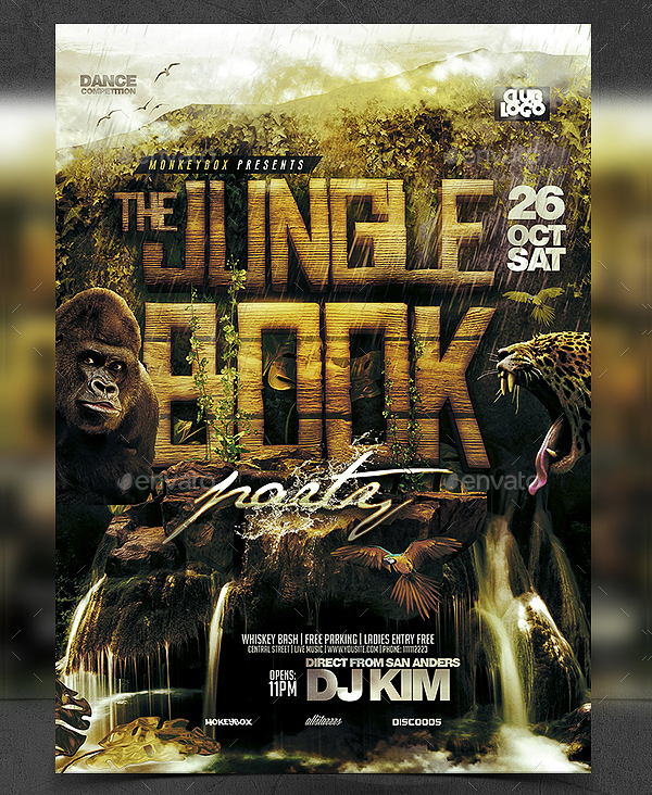 19 Jungle Flyer Templates Free Premier Download