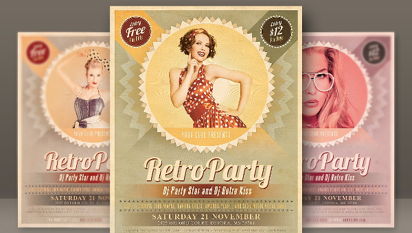 Vintage Party Flyer Templates  Free  Premium Download