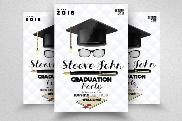 18  graduation flyer templates