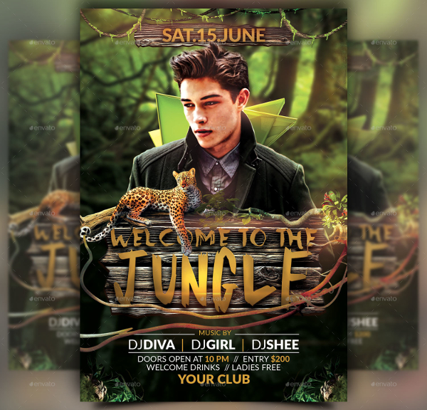 19  jungle flyer templates