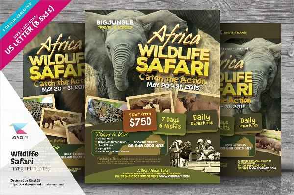 Jungle Wildlife Safari Flyer Templates