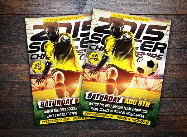 2015 Soccer Championships Sports Flyer