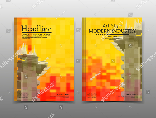 Abstract Construction Brochure Templates