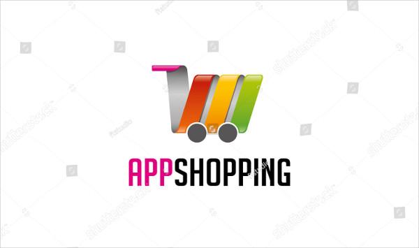 App Shopping Logo Template