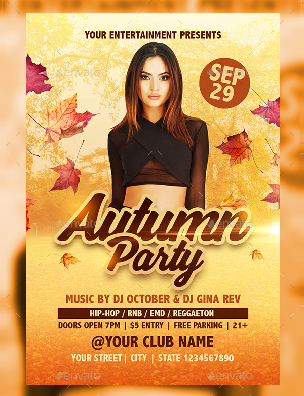 Autumn Party Event Flyer Template