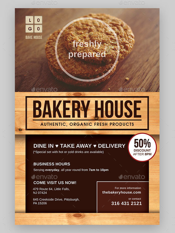 20  bakery menu flyer