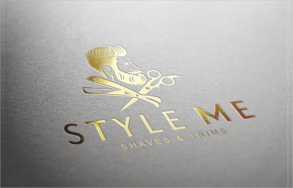 Cool Barber Shop Logo Template