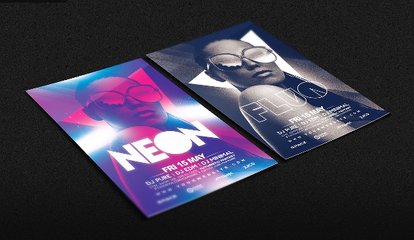 Prty Brochure Template | 18 Neon Party Flyer Templates Free Psd Vector Eps Png Downloads
