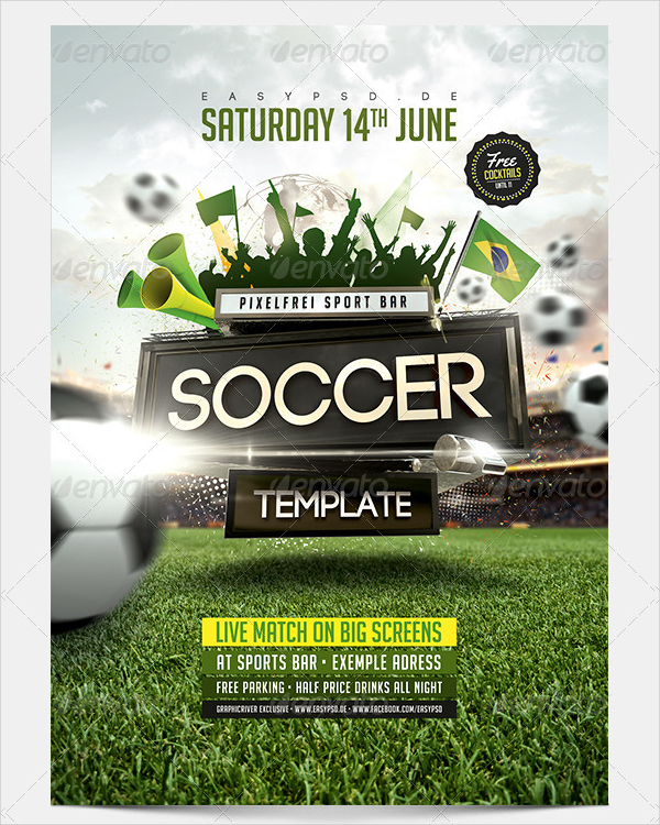 22+ Soccer Flyer Templates - Free Premium PSD Vector PNG