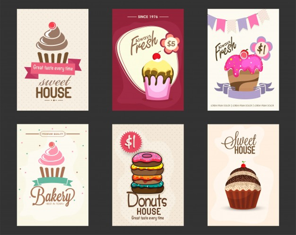 Big Collection Of Bakery Flyers