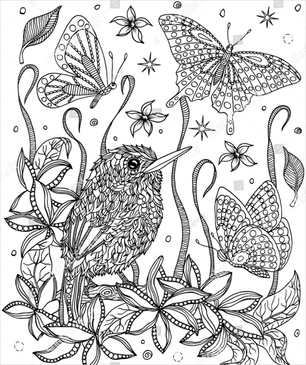 22 Flower Coloring Pages