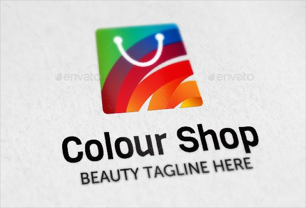 Unique Colour Shop Design Logo Template