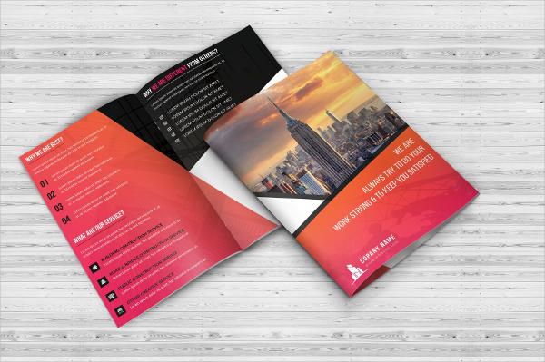 Construction Bi-fold Brochure Templates