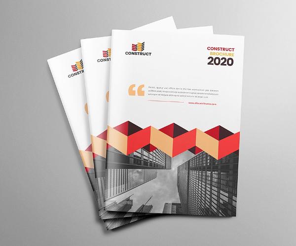 Construction PSD Business Brochure Templates