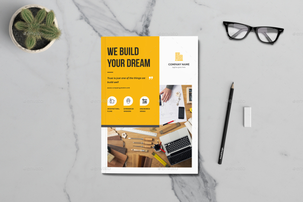 Realestate Construction Brochure Templates