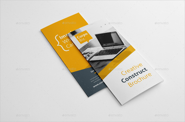 Creative Construction Trifold Brochure Templates