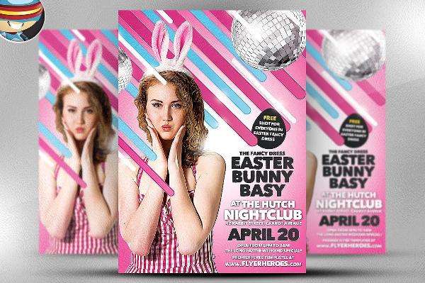 Easter Bunny Bash Flyer