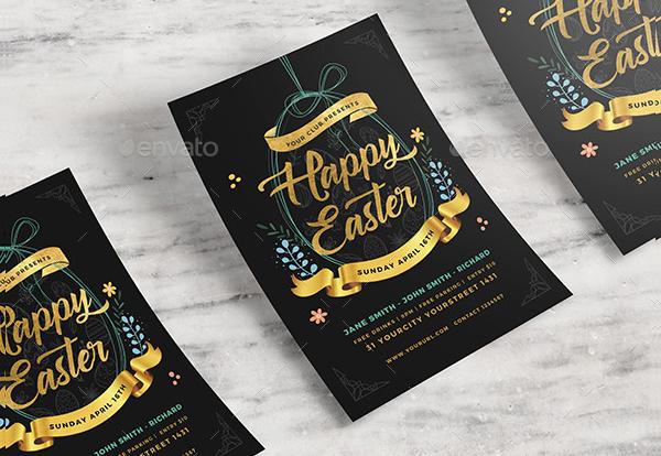 Easter Celebration Flyer Template