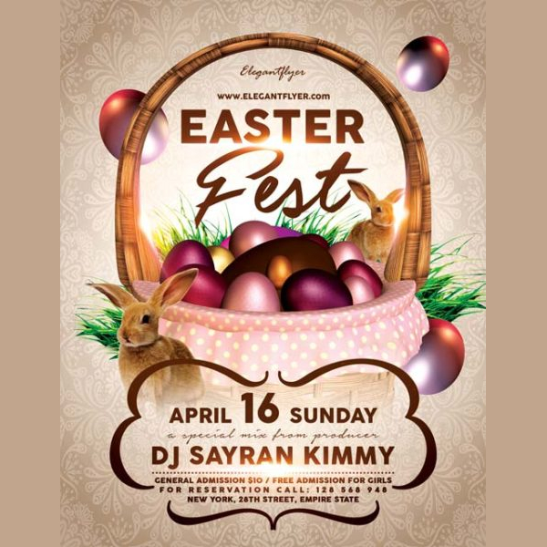 Easter Fest Free Flyer Template