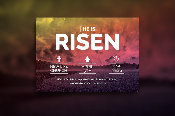 22  easter flyer templates