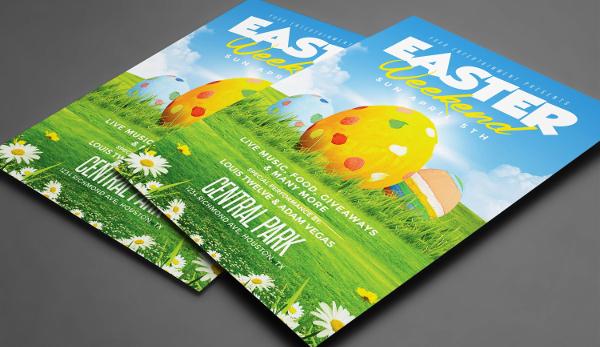 Easter Weekend Flyer Template 2