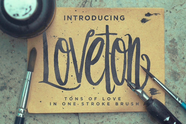 Fancy Loveton Typeface Font