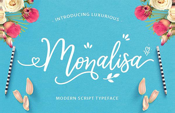 Fancy Monalisa Design Font