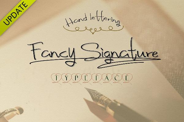 Fancy Signature True Type Font
