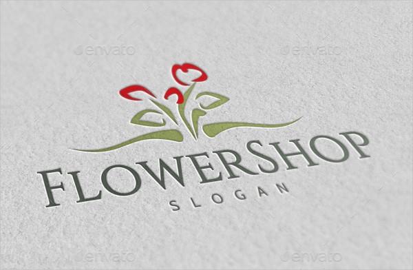 Flower Shop Business Logo Template