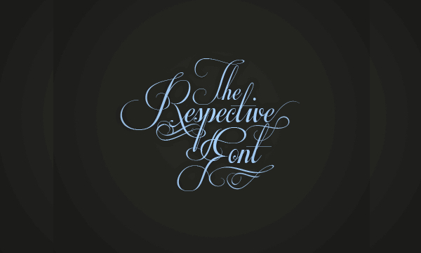 Free Download Respective Fancy Font