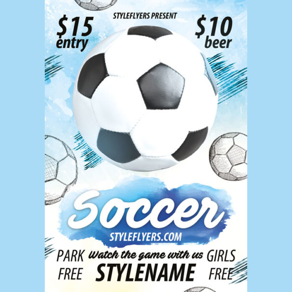 Free Soccer Vector Flyer Template