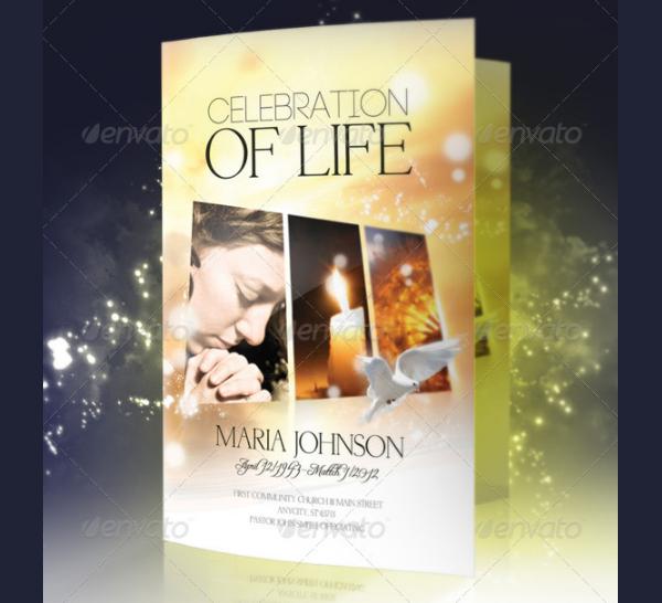 Funeral Celebration Program Brochure