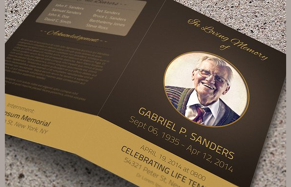 Funeral Services Program Brochures Bundle